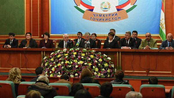 Пресс-конференция ЦИК 2 марта 2015 года - Sputnik Таджикистан