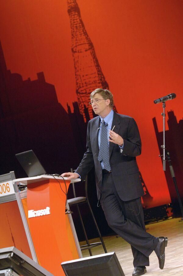 Б.Гейтс во время визита в Москву. Архивное фото - Sputnik Таджикистан