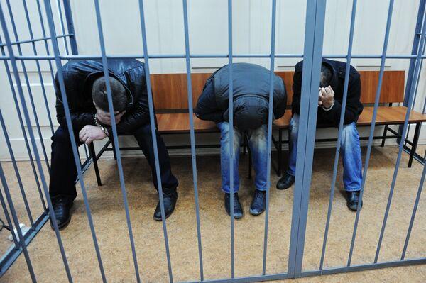 Подозреваемые в убийстве Б.Немцова доставлены в Басманный суд. Архивное фото - Sputnik Таджикистан