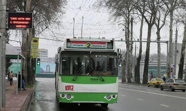 Электронное табло для общественного транспорта в Душанбе - Sputnik Таджикистан