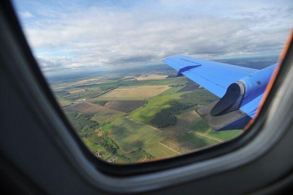 вид из иллюминатора самолета. Архивное фото - Sputnik Таджикистан