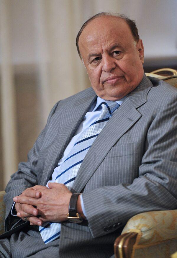 Президент Йеменской Республики Абдраббо Мансур Хади. Архивное фото - Sputnik Таджикистан