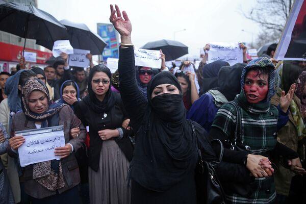 Митинг протеста в Кабуле. Архивное фото - Sputnik Таджикистан