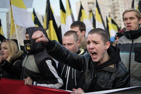 Русский марш радикальных движений. Архивное фото - Sputnik Таджикистан
