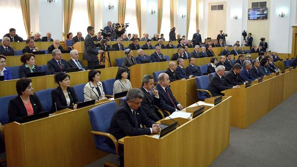 В таджикском парламенте. Архивное фото - Sputnik Таджикистан