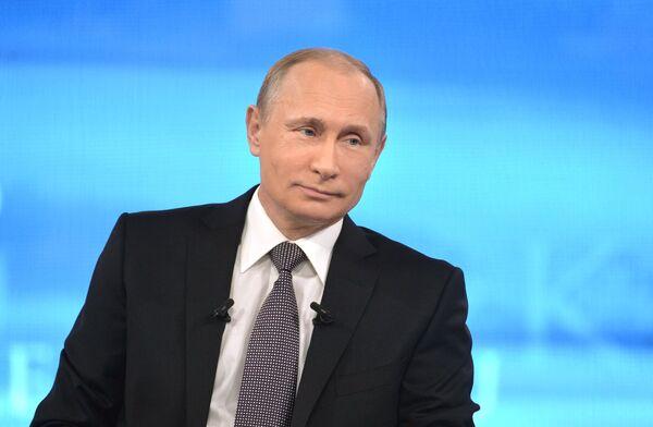 Прямая линия с президентом России Владимиром Путиным - Sputnik Тоҷикистон