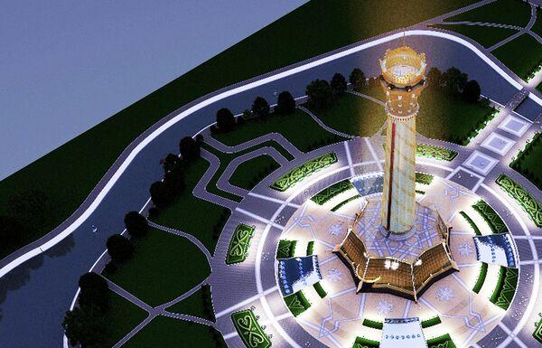 Проект архитектурной композиции под названием «Авдж» - Sputnik Таджикистан