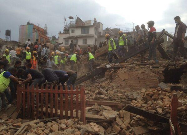 Землетрясение в Катманду, Непал 25 апреля 2015 года - Sputnik Таджикистан