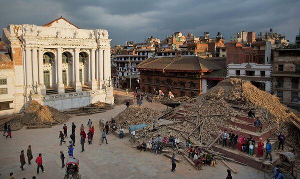 Разрушительное землетрясение в Непале - Sputnik Таджикистан