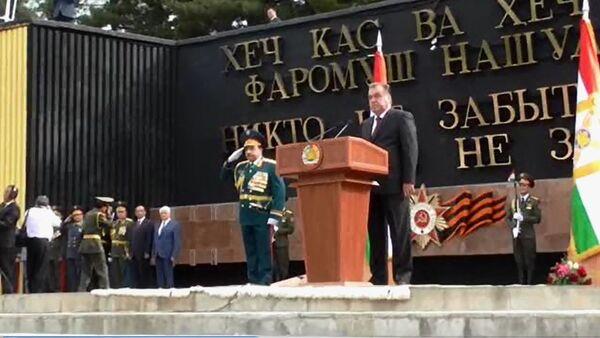 День победы в Душанбе радость со слезами на глазах - Sputnik Таджикистан