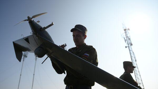 Запуск БЛА Застава во время учений. Архивное фото - Sputnik Таджикистан