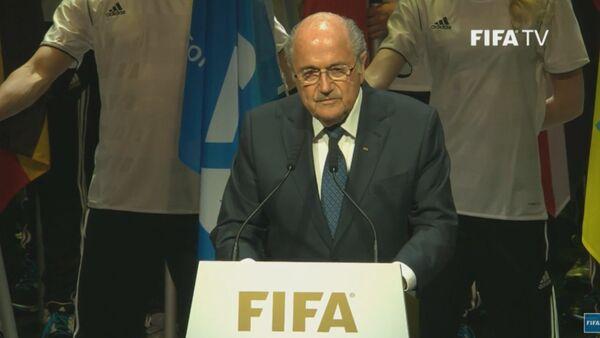 Президент ФИФА Йозеф Блаттер на церемонии открытия конгресса в Цюрихе - Sputnik Таджикистан