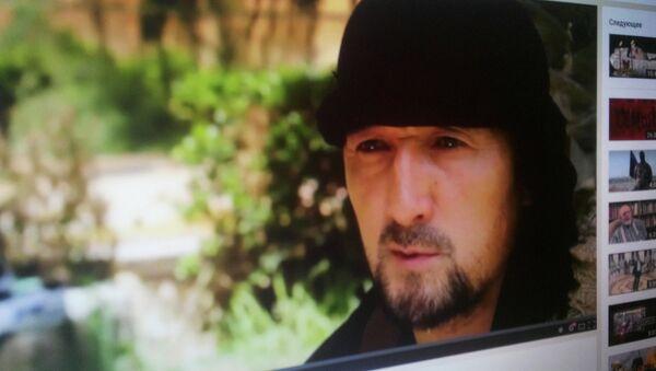 Кадр из видеоролика, в котором Гулмурод Халимов заявил о присоединении к ИГ - Sputnik Таджикистан