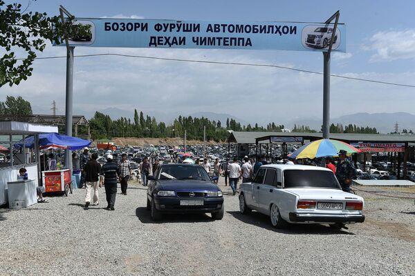 Мошинбозори деҳаи Чимтеппа - Sputnik Тоҷикистон