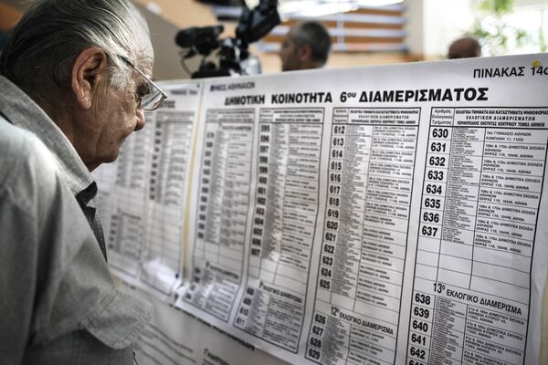 Референдум в Греции - Sputnik Таджикистан
