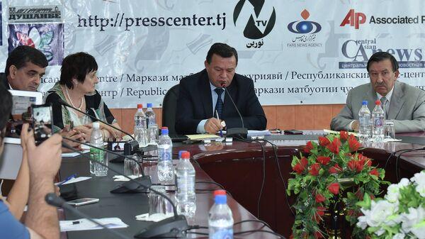 Пресс-конференция в АН РТ 9 июля 2015 года - Sputnik Таджикистан