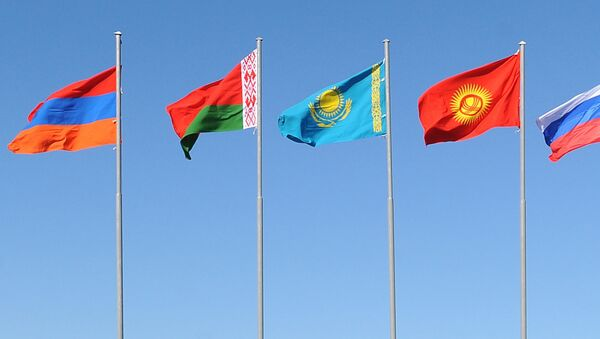 Флаги стран-участниц ЕАЭС. Архивное фото - Sputnik Таджикистан