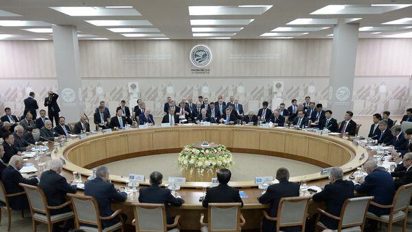 Заседание Совета глав государств-членов ШОС 10 июля 2015 - Sputnik Таджикистан
