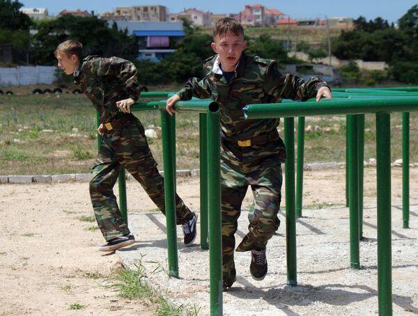 Военно-спортивная игра. Архивное фото - Sputnik Таджикистан