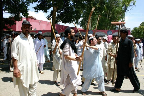 Противостояние радикальных исламистов и сил правопорядка в Исламабаде. Архивное фото - Sputnik Таджикистан