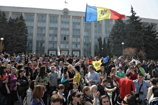 Митингующие у здания парламента Молдавии. Архивное фото. - Sputnik Таджикистан
