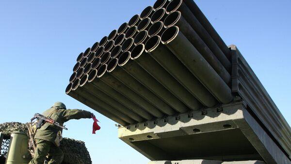 Реактивная система залпового огня Град. Архивное фото. - Sputnik Таджикистан