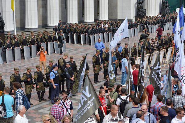 Эътирозҳо дар Киев. 31 августи соли 2015 - Sputnik Тоҷикистон