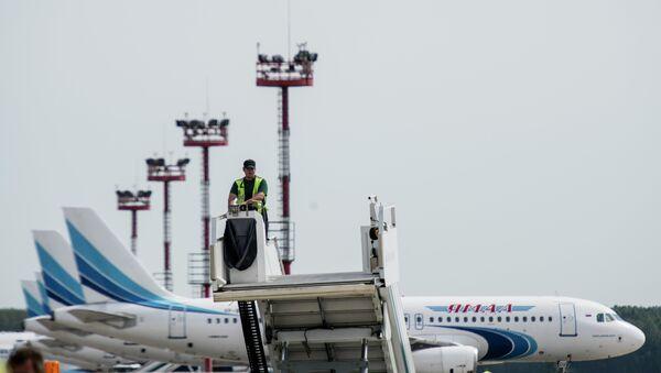 Обслуживание самолетов в аэропорту Домодедово - Sputnik Таджикистан