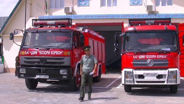 Рынок Корвон теперь имеет свою систему пожаробезопасности - Sputnik Таджикистан