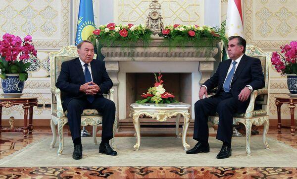 Переговоры Нурсултана Назарбаева и Эмомали Рахмона 14 сентября 2015 года - Sputnik Таджикистан