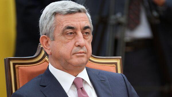 Президент Армении Серж Саргсян. Архивное фото - Sputnik Тоҷикистон