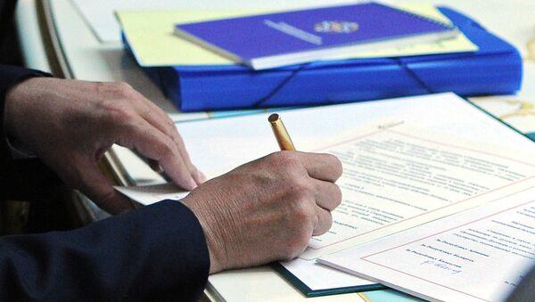 Подписание документов на саммите ОДКБ в Душанбе 15 сентября 2015 года - Sputnik Таджикистан