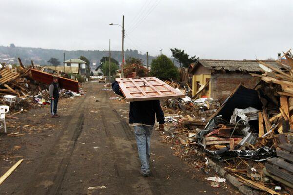 Последствия землетрясения в Чили - Sputnik Таджикистан