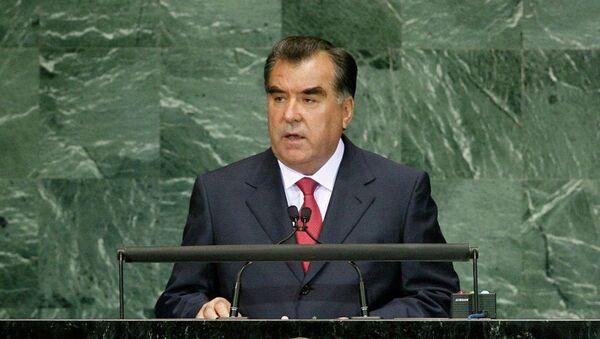 Эмомали Рахмон в ООН. Архивное фото - Sputnik Таджикистан