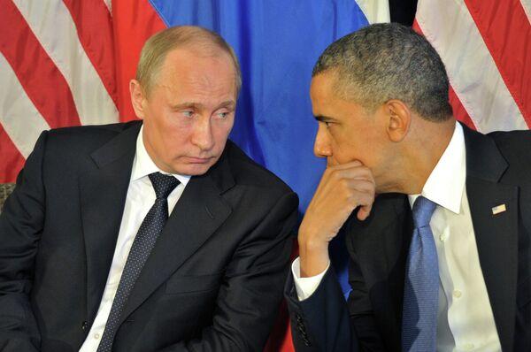 Президент РФ В.Путин встретился с президентом США Б.Обамой - Sputnik Таджикистан
