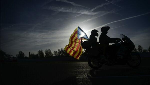 Байкеры во время мотопробега в поддержку независимости Каталонии. Архивное фото - Sputnik Таджикистан