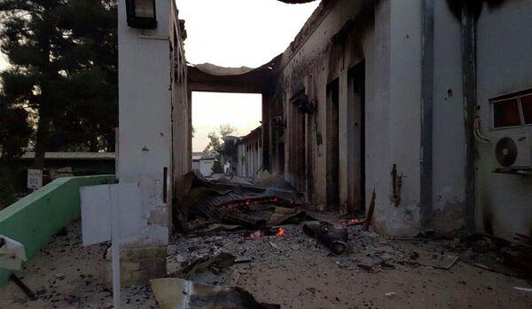 Руины больницы Врачей без границ в Кундузе, 3 октября, 2015г. - Sputnik Таджикистан