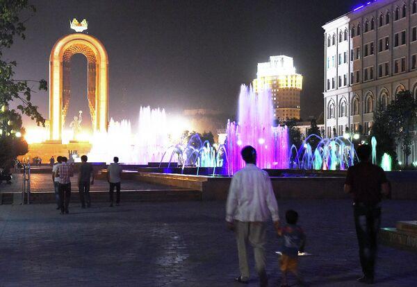 Ночной Душанбе - Sputnik Таджикистан