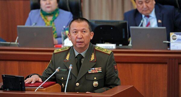 Министр обороны Кыргызстана Абибилла Кудайбердиев. Архивное фото - Sputnik Таджикистан