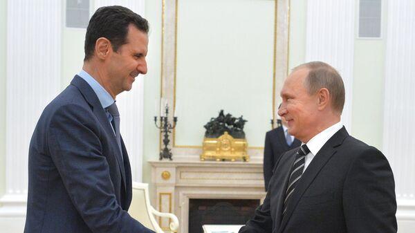 Президент России В.Путин встретился с президентом Сирии Б.Асадом - Sputnik Тоҷикистон