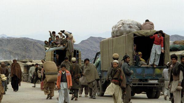 Афганские беженцы. Архивное фото - Sputnik Тоҷикистон