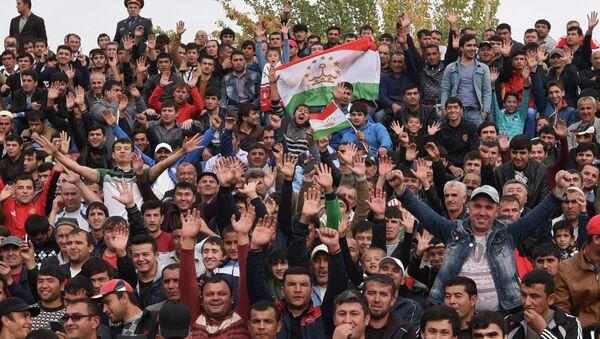 Таджикские болельщики. Архивное фото - Sputnik Таджикистан
