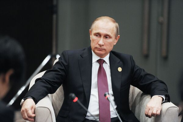 Президент России Владимир Путин на полях саммита Группы двадцати (G20). Архивное фото - Sputnik Таджикистан
