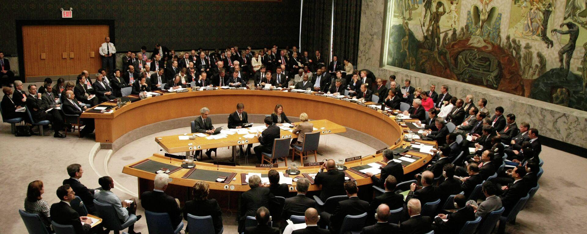 Заседание СБ ООН, архивное фото. - Sputnik Тоҷикистон, 1920, 22.09.2021