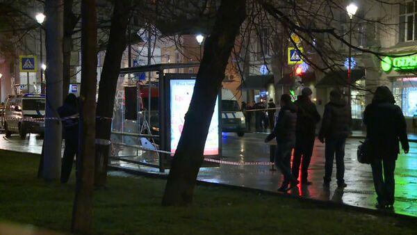Кадры с места взрыва на автобусной остановке в центре Москвы - Sputnik Таджикистан