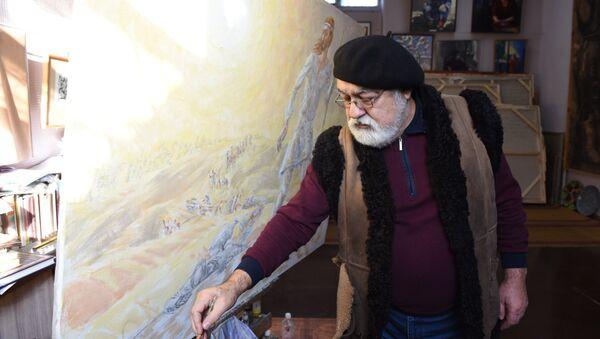 Народный художник Таджикистана Сабзали Шарипов - Sputnik Таджикистан