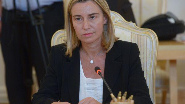 Верховный представитель ЕС по иностранным делам и политике безопасности Федерика Могерини. Архивное фото - Sputnik Таджикистан