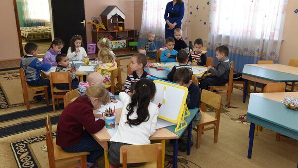В 201-й военной базе в Душанбе открыт детский сад Радуга - Sputnik Тоҷикистон