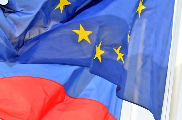 Флаги России, ЕС. Архивное фото - Sputnik Таджикистан