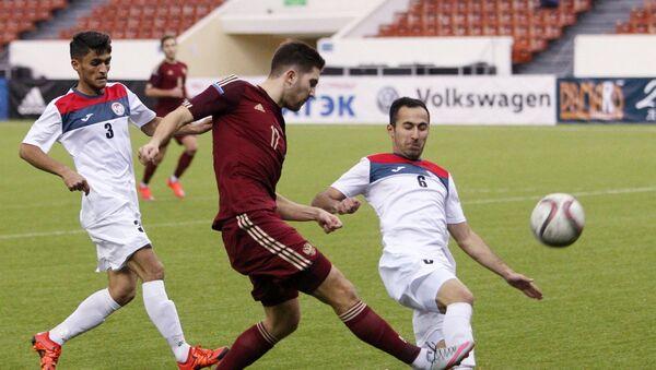 Матч Россия - Таджикистан на международном турнире Кубок Содружества-2016 - Sputnik Таджикистан